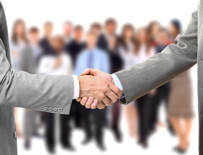 handshake on business background